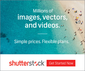 Click to save a 25% discount on images from Shutterstock