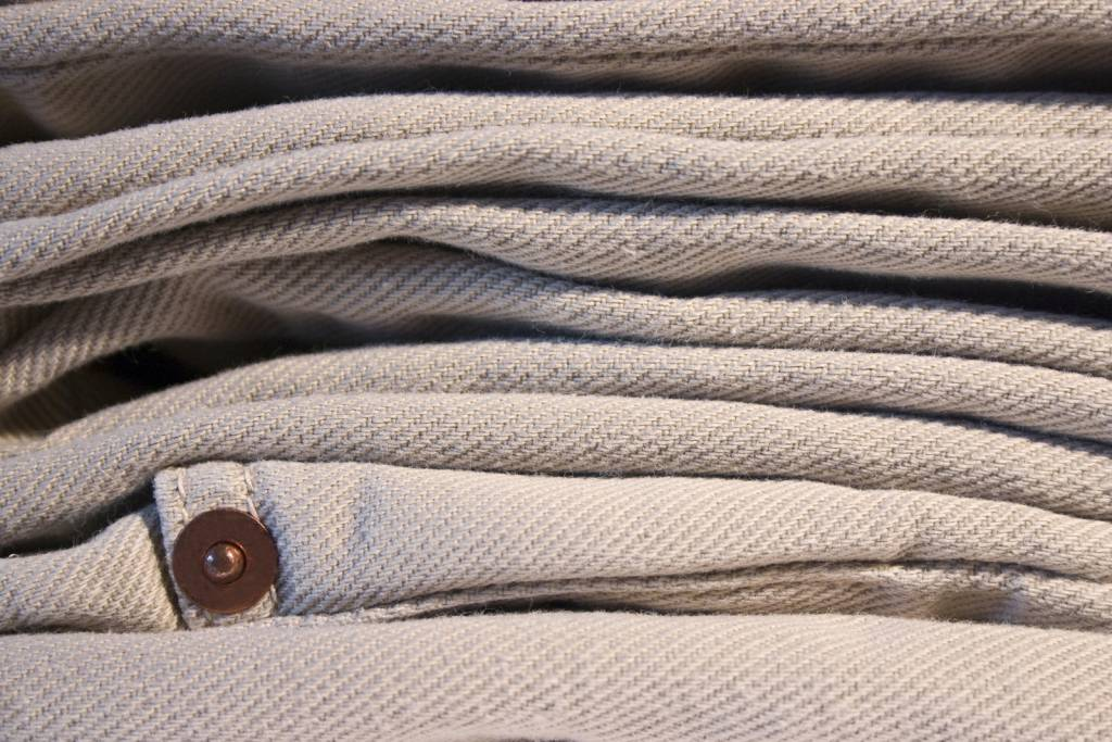Beige colour of jeans