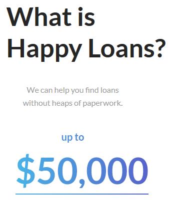 happy loans. $50k