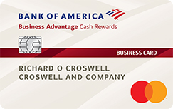 business credit card bank of america